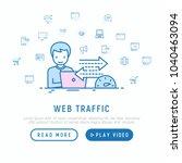 web analyst monitors web... | Shutterstock .eps vector #1040463094