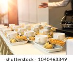 coffee break at conference... | Shutterstock . vector #1040463349