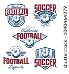 vector football emblems set.... | Shutterstock .eps vector #1040464279