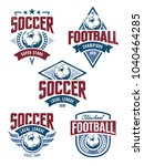 vector football emblems set.... | Shutterstock .eps vector #1040464285