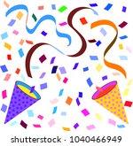 celebration cracker bonbon    Shutterstock .eps vector #1040466949
