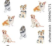 Dogs Breeds Watercolor...