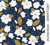 botanical seamless pattern with ...   Shutterstock .eps vector #1040471287