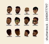 african american face with... | Shutterstock .eps vector #1040477797