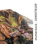 landscape sunset sea waves   Shutterstock . vector #1040478109