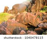 landscape sunset sea waves   Shutterstock . vector #1040478115