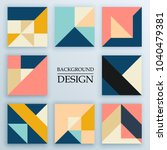 set of backgrounds with trendy... | Shutterstock .eps vector #1040479381