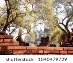 old decay brick wall structure...   Shutterstock . vector #1040479729