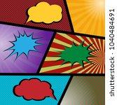 colorful pop art comic sale... | Shutterstock .eps vector #1040484691