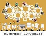 flat design illustration... | Shutterstock .eps vector #1040486155