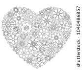 heart template with abstract... | Shutterstock .eps vector #1040486857