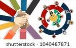 flat design illustration... | Shutterstock .eps vector #1040487871