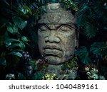 olmec sculpture carved from... | Shutterstock . vector #1040489161