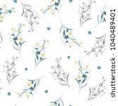 trendy  floral pattern in the... | Shutterstock .eps vector #1040489401