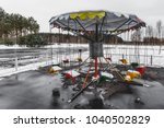 empty merry go round in the... | Shutterstock . vector #1040502829