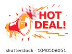 hot deal   advertising sign... | Shutterstock .eps vector #1040506051