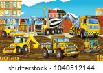 cartoon scene with different... | Shutterstock . vector #1040512144