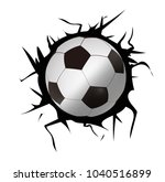 soccer ball and a crack on ... | Shutterstock .eps vector #1040516899
