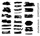 set of grunge brush stroke. ink ... | Shutterstock .eps vector #1040516959