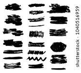 set of grunge brush stroke. ink ...   Shutterstock .eps vector #1040516959