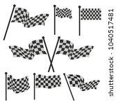 flag vector set design race... | Shutterstock .eps vector #1040517481