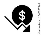 dollar down trend | Shutterstock .eps vector #1040527141