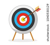 vector flat icon. arrow hitting ... | Shutterstock .eps vector #1040530129