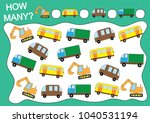 counting educational game for... | Shutterstock .eps vector #1040531194