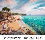 sunny summer seascape of aegean ...   Shutterstock . vector #1040531815