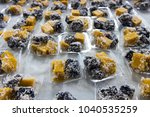 black coconut sweet pudding is... | Shutterstock . vector #1040535259