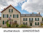 Small photo of VERT LE PETIT, FRANCE - OCTOBER 9, 2015: Town Hall building located thirty-four kilometers south of Paris-Notre-Dame, in Ile de France, a picturesque village with approximately 2800 inhabitants.