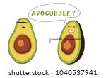 funny drawing of a couple of... | Shutterstock .eps vector #1040537941