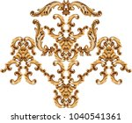 golden baroque ornament | Shutterstock . vector #1040541361