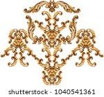 golden baroque ornament | Shutterstock . vector #1040541361