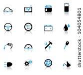 icons set auto parts | Shutterstock .eps vector #104054801