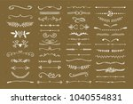 text dividers hand drawn design ... | Shutterstock .eps vector #1040554831
