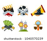 cinema genre icons set... | Shutterstock .eps vector #1040570239