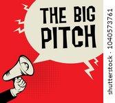 megaphone hand business concept ...   Shutterstock .eps vector #1040573761