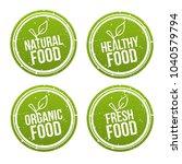 set of natural food badges.... | Shutterstock .eps vector #1040579794