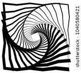 distorted squares with rotation ... | Shutterstock .eps vector #1040580421