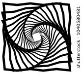 distorted squares with rotation ... | Shutterstock .eps vector #1040580481