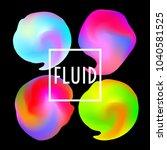 abstract neon creative liquid... | Shutterstock .eps vector #1040581525