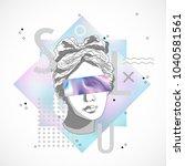 trendy sculpture modern design | Shutterstock .eps vector #1040581561