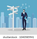 business people concepts.... | Shutterstock .eps vector #1040585941