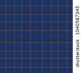 tartan traditional checkered... | Shutterstock .eps vector #1040587345