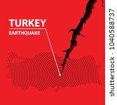 turkey earthquake concept on...   Shutterstock .eps vector #1040588737