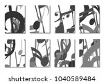 musical covers. set of 8 music... | Shutterstock .eps vector #1040589484