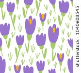 cute floral spring seamless... | Shutterstock .eps vector #1040603545