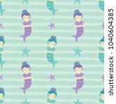 cute seamless pattern... | Shutterstock .eps vector #1040604385