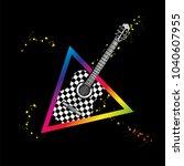 acoustic guitar. vector... | Shutterstock .eps vector #1040607955